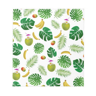 Tropical pattern notepads