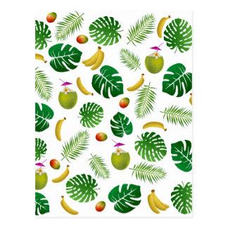 Tropical pattern postcard