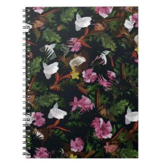 Tropical pattern spiral notebook