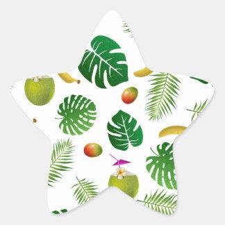 Tropical pattern star sticker