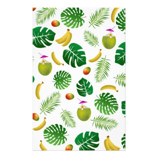 Tropical pattern stationery