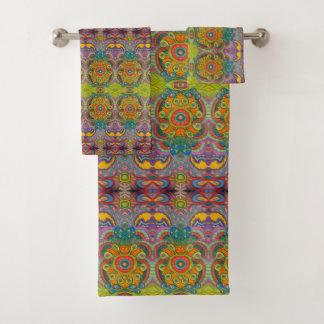 tropical pattern towel set