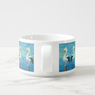 Tropical Pelican Chili Bowl – Blue White by Yotigo