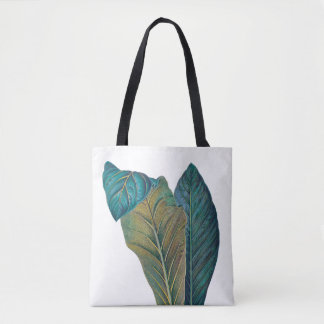 Tropical Philodendron Green Leaves Bag