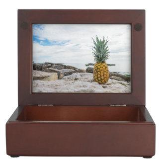 Tropical Pineapple at the Beach Memory Box