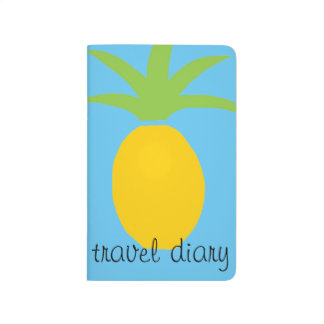 Tropical Pineapple Colorful Pocket Travel Diary Journal