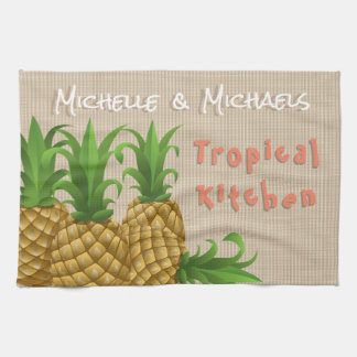 TROPICAL PINEAPPLE FOR BRIDAL SHOWER HOUSEWARMING KITCHEN TOWEL