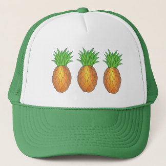 Tropical Pineapple Fruit Pineapples Trucker Hat