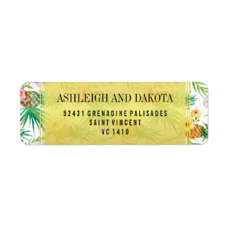 Tropical Pineapple & Hibiscus Destination Wedding