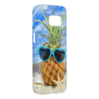 tropical pineapple in sunglasses samsung galaxy s7 case