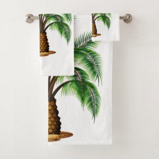 Tropical Pineapple Palm Bathroom Towel Set