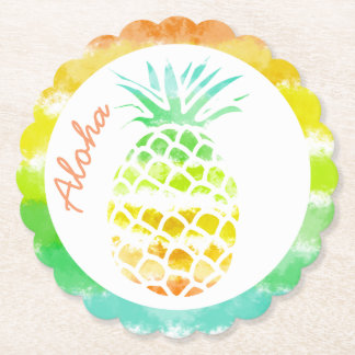 Tropical Pineapple Paper Coasters