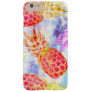 Tropical Pineapple Pattern Beautiful Watercolor Barely There iPhone 6 Plus Case