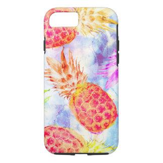 Tropical Pineapple Pattern Beautiful Watercolor iPhone 8/7 Case