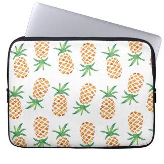 Tropical Pineapple Pattern Laptop Sleeve