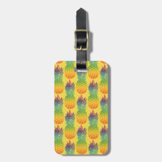 Tropical pineapple pattern travel luggage tag