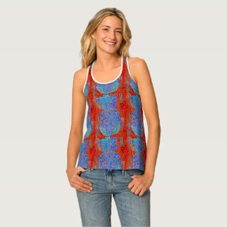 Tropical Pineapple Patterned Tank Top