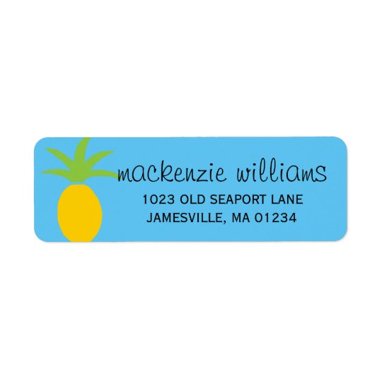 Tropical Pineapple Personalized Address Labels