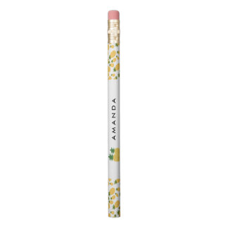 Tropical Pineapple Personalized Back to School Pencil