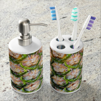 Tropical Pineapple Punch Texture Bathroom Set