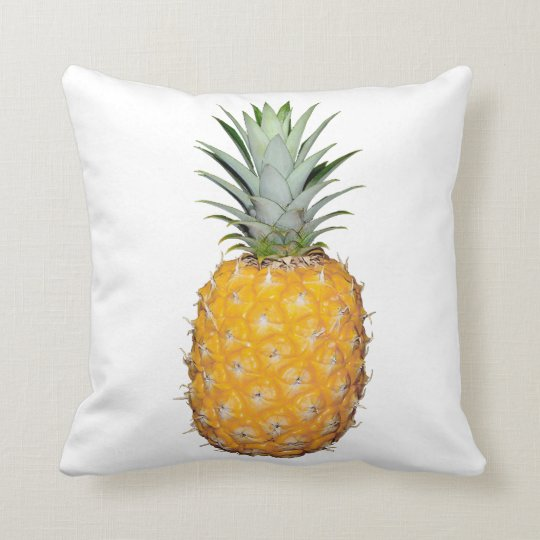 Tropical pineapple throw pillow
