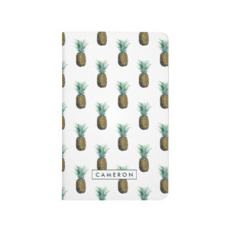 Tropical Pineapple Watercolor Journal