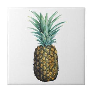Tropical Pineapple Watercolor Tile