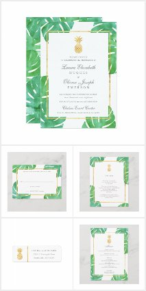 Tropical Pineapple Wedding Set