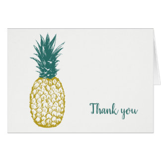 Tropical Pineapple Wedding Thank You Card