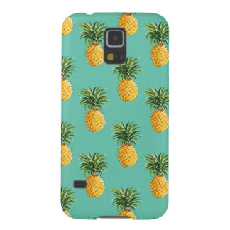Tropical Pineapples On Teal Galaxy S5 Cover