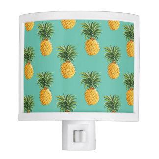 Tropical Pineapples On Teal Nite Lites