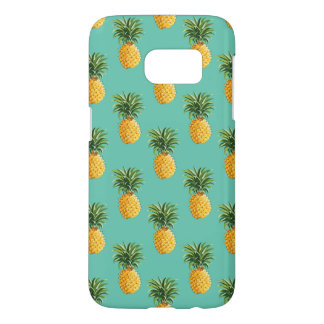 Tropical Pineapples On Teal Samsung Galaxy S7 Case