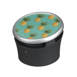 Tropical Pineapples On Teal Speaker