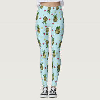 Tropical Pineapples Watermelon Lime Leggings