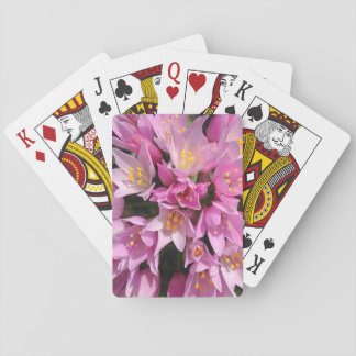 Tropical Pink and Yellow Flowers Poker Deck