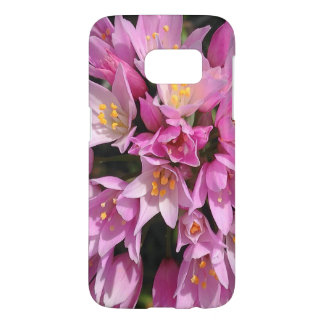 Tropical Pink and Yellow Flowers Samsung Galaxy S7 Case