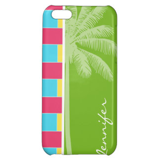 Tropical Pink, Blue, Green, & Yellow iPhone 5C Cover
