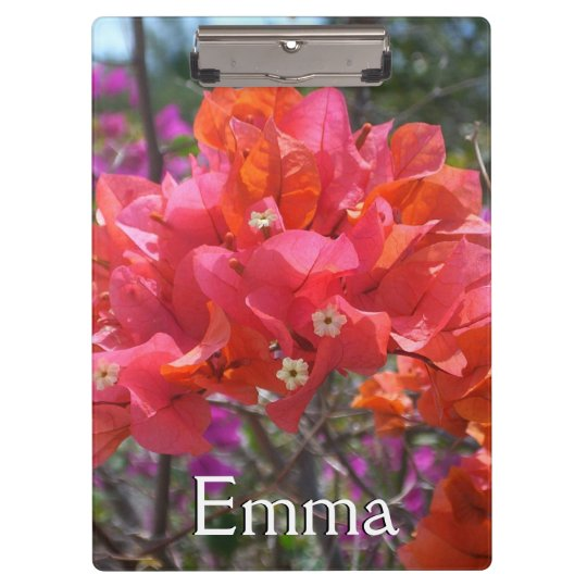 Tropical Pink Bougainvillea Clipboards