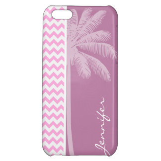 Tropical Pink Chevron Pattern Cover For iPhone 5C