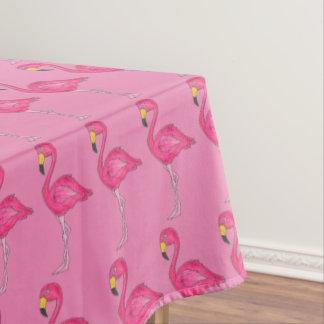 Tropical Pink Flamingo Bird Print Tablecloth