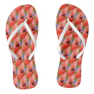 Tropical Pink Flamingo Flipflops Beach Florida Flip Flops