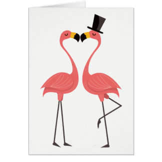 Tropical Pink Flamingo Love Hello Thinking of You Card