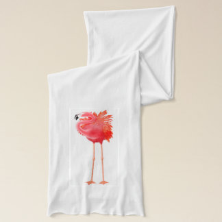 Tropical Pink Flamingo Scarf