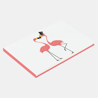 Tropical Pink Flamingo Wedding Bridal Shower Party Guest Book