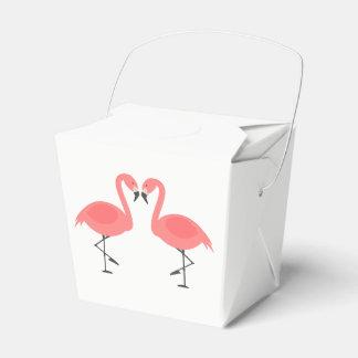 Tropical Pink Flamingo Wedding Party Summer Favor Box