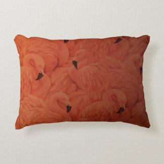 Tropical Pink Flamingos Accent Pillow