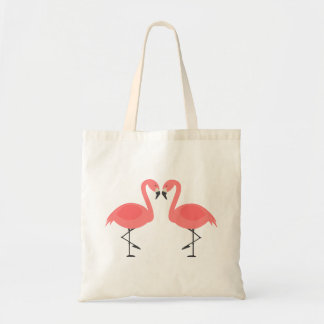 Tropical Pink Flamingos - Wedding, Bridal Shower Tote Bag