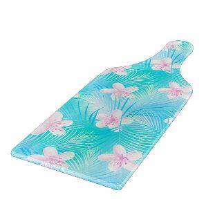 Tropical pink frangipani cutting board