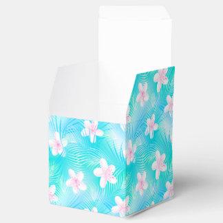 Tropical pink frangipani favor box