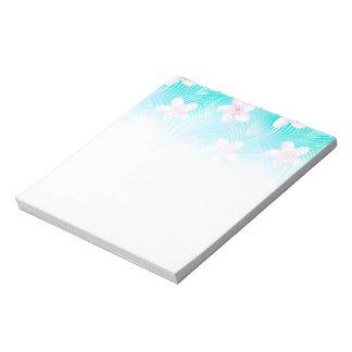 Tropical pink frangipani notepad